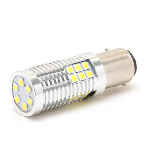 LED Metalsockel P21/5W Bay15d 30x3030 SMD Weiß 100 % Canbus Inside