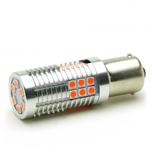LED Metalsockel P21W Ba15s 30x3030 SMD Rot 100 % Canbus Inside