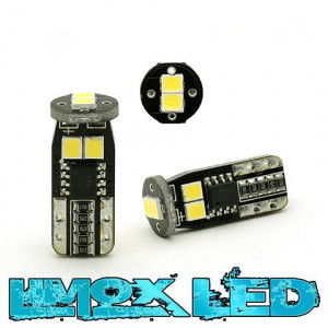LED Glassockel W5W T10 6x 2835 SMD Weiß