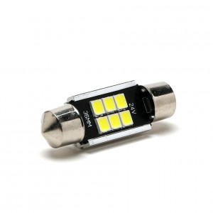 LED Soffitte C5W 36mm SV8,5-8 6x 2835 24V SMD Weiß