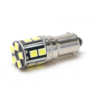 LED Metallsockel 100% Canbus T4W Ba9s 15x 3030 SMD Weiß