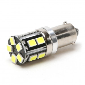 LED Metallsockel 100% Canbus H6W Bax9s 15x 3030 SMD Weiß