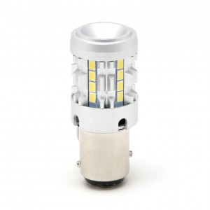 LED Metalsockel P21/5W Bay15d 26x 3030 SMD Weiß 100 % Canbus Inside