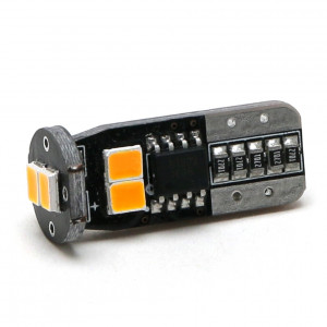 LED Glassockel WY5W T10 6x 2835 SMD Orange