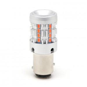 LED Metalsockel P21/5W Bay15d 26x 3030 SMD Rot 100 % Canbus Inside