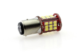 LED Lampe Birne Metalsockel P21/5W Bay15d 48x 2835 SMD Weiß Canbus