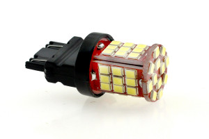 LED Lampe Birne P27/7W W2.5x16q 48x 2835 SMD Weiß Canbus