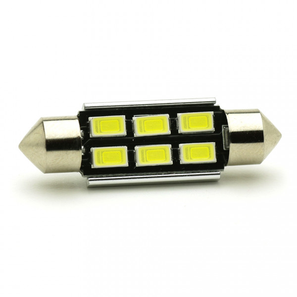 LED Soffitte C10W 41mm 6x 5630 SMD Weiß Canbus